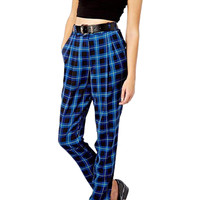 Blue Plaid Harem Pants - Choies.com