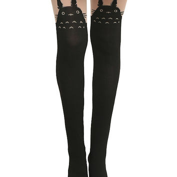 Studio Ghibli My Neighbor Totoro Faux Thigh High Tights