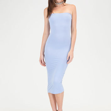 Riding The Tube Strapless Midi Dress