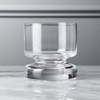 bottom heavy double old-fashioned glass