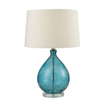 D2692 Wayfarer Glass Table Lamp in Teal - Free Shipping!