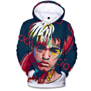 rip xxxtentacion 3D Printed Mens Hoodies and Sweatshirts Poleron Hombre Winter Fashion Hip Hop Rapper Funny Hooded Jacket Male