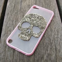 ipod touch 5 case ipod case ipod touch 5 ipod 5 case ipod touch case pink yellow off-white TPU side skull ipod touch 5 case
