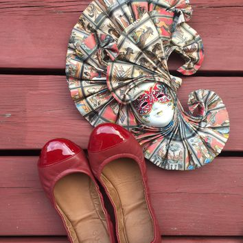 Emma Flats Lava Red for Women