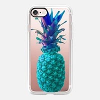 Atomic Turquoise Pineapple iPhone 7 Case by Lisa Argyropoulos | Casetify