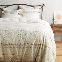 Embroidered Pointilliste Duvet Cover