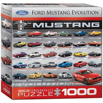 Ford Mustang Evolution - 1000 Piece Jigsaw Puzzle