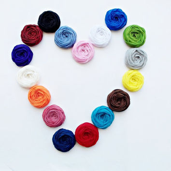 Chiffon Roses Handmade Appliques Embellishments - You Select the Color