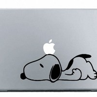 Snoopy Sad MacBook Decal Mac Apple skin sticker