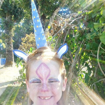 Unicorn horn, headband attachment, printable diy costume ears