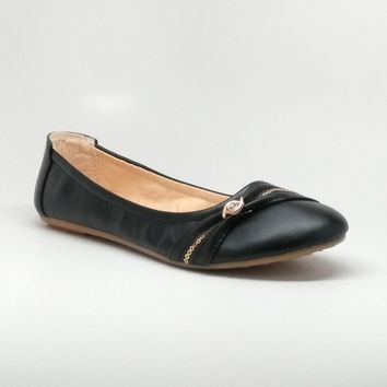 Women's Flats with Charm and Sequin Details