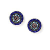 Vintage Button Stud Earrings  | Icing