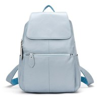 Leather Backpack With Flap