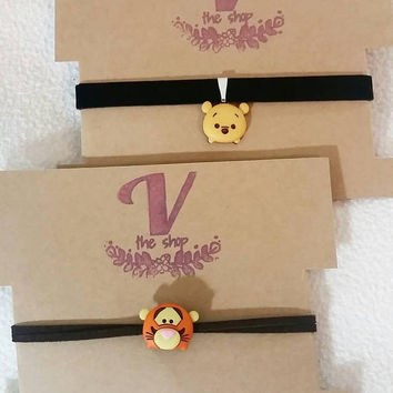 Tsum Tsum Pooh and Tiger inspired choker, disney necklace, disney choker, disney jewelry, disney Princesses, cosplay