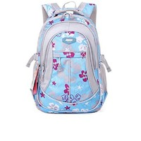 Vere Gloria Girls Flowers Printing Backpacks for Primary & Middle School Students 3-9 Graders
