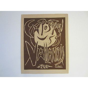 Pablo Picasso Exhibition 55 Mid Century Abstract Cubist Poster