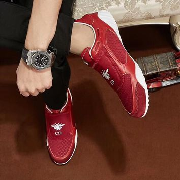 Dior2018 new round head breathable sneakers