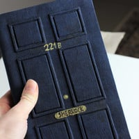 Sherlock Holmes 221B Journal, diary, notebook, dyed paper. 221B door