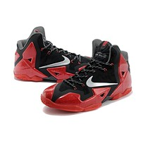 Nike Lebron 11 Red /Black Basketball Shoes