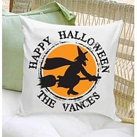 Personalized Halloween Throw Pillows