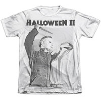 HALLOWEEN II/SERIAL SERENADE - ADULT 65/35 POLY/COTTON S/S TEE - WHITE - MD - White -