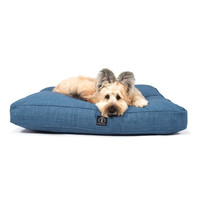 Heather Rectangle Bed | Blue