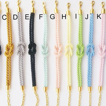 tie the knot , bridesmaid gift , sailor knot bracele , nautical rope bracelet ,rope bracelet ,nautical jewelry,bridal shower gift