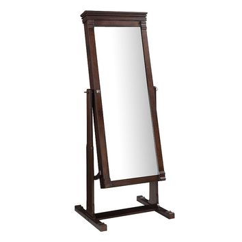 Linon Angela Cheval Mirror Jewelry Armoire (Brown)