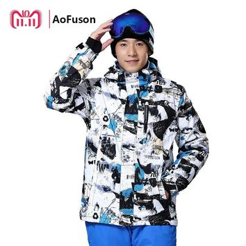 Professional Ski Snowboard Jacket Snow Windproof Waterproof Warm Hiking Clothes Coat Breathable Snowboarding Hooded Jacket Men
