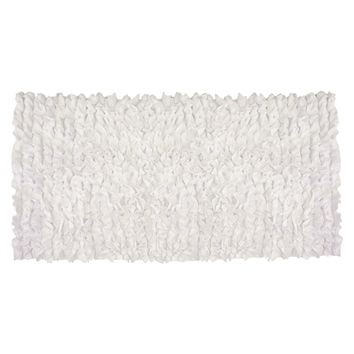 White Ruffles - Nursery Rugs (Made to Order. Usually ships in 2-3 weeks)