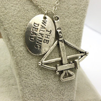 The Walking Dead Daryl Dixon Crossbow Charm Necklace