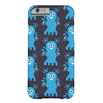 Undiscovered Blue Happy Sea Creatures Pattern Barely There iPhone 6 Case