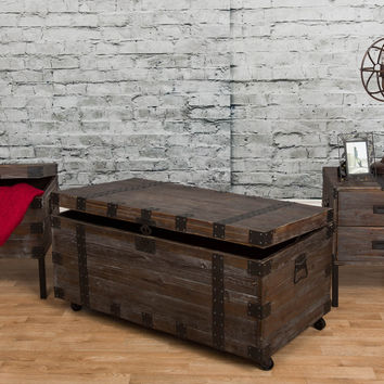 Michael Anthony Reclaimed Wood 3-Piece Trunk Table Set