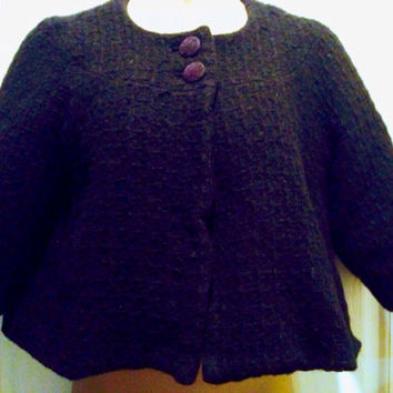 Vintage Women's Tommy Hilfiger Crop Black Jacket LG