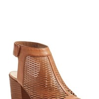 Vince Camuto 'Lavette' Perforated Peep Toe Bootie (Women) | Nordstrom