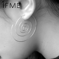 2016 New Fashion Jewelry Gold Color Spiral Stud Earrings Round aretes Simple Style Silver Color Plugs Earrings for Women