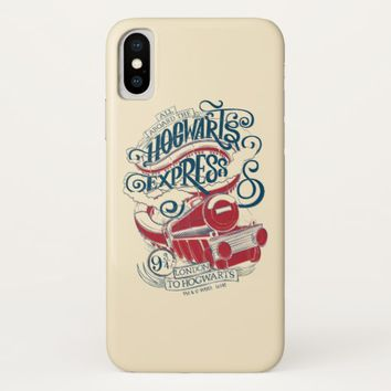 Harry Potter | Hogwarts Express Typography iPhone X Case