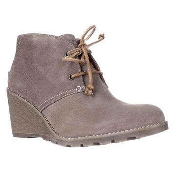 Sperry Top-Sider Stella Prow Wedge Ankle Booties, Taupe, 9 US / 40 EU