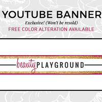 Classic Youtube Logo | Social Media Graphics | Social Media Design | Glitter Logo | Glitter Header | Youtube Banner | Youtube Graphics | BEA