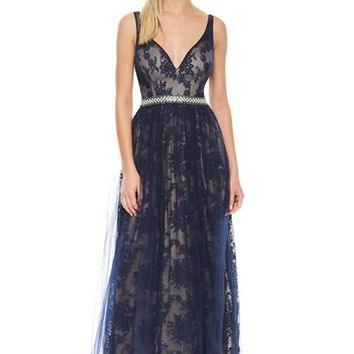 Selene Pearl Lace Prom Formal Event Dress Gown