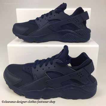 NIKE AIR HUARACHE TRAINERS MENS MIDNIGHT NAVY RUNNING CASUAL SHOES RRP ?100