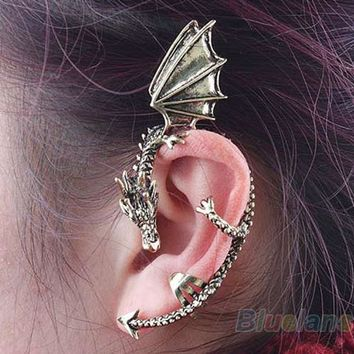 Bluelans 2013 Hot Selling Retro Vintage Gothic Rock Punk Twine Dragon Shape Ear Cuff Clip Earring Earrings Women Men