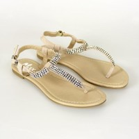Sparkling Sandal: Blush [HP-QUARTZ-01-NUD] - $39.99 : Spotted Moth, Chic and sweet clothing and accessories for women
