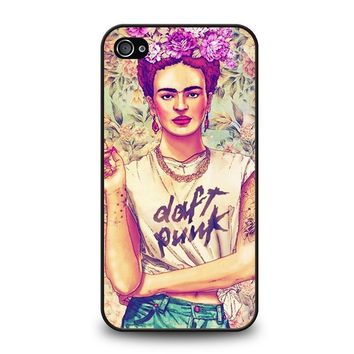 frida kahlo daft punk iphone 4 4s case cover  number 1