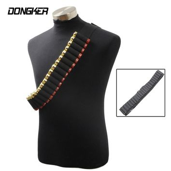 Tactical Bullet Pouches 25 Buttstock Shell Belt 12 Gauge Ammo Holder Outdoor Airsoft Hunting Cartridge Belt