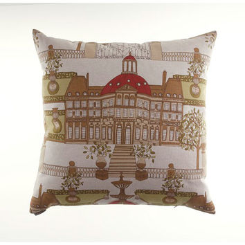Canaan Company 2157-R Conservatory Linen Print 24 x 24 Pillow