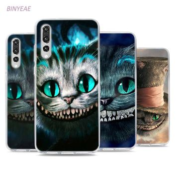 BINYEAE Alice in Wonderland Style Clear Soft TPU Phone Cases for Huawei P20 Lite Honor 9 8 Lite 7X 6A 6X 6C Pro