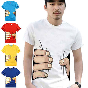 Men's big Hand t shirt! Man clothes Printing creative personality spoof grab your cotton T-shirt