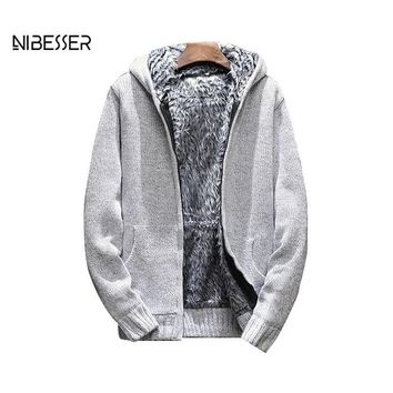 Trendy LASPERAL Men's Autumn Fashion Brand Plus Velvet Thickening Hooded Knit Quality Jacket Men's Casual Cardigan Fashion Coat AT_94_13