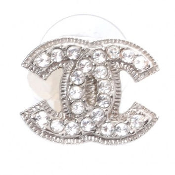 Chanel Crystal Cc Logo Classic Earring Stud (One Side Only)